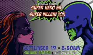Super Hero 5K and Super Villain 10K Logo
