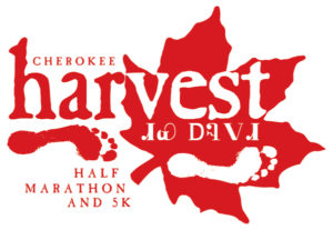 Cherokee Harvest Half Marathon And 5K Logo