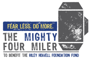 The Mighty Four Miler For Riley Howell Logo