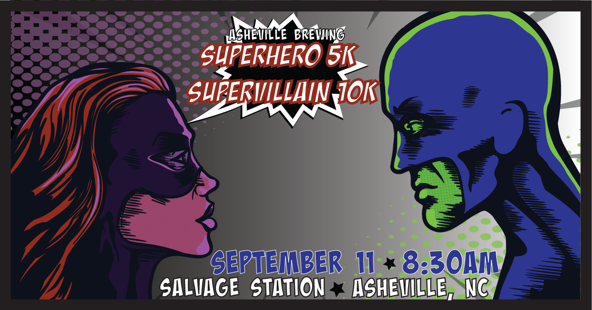 Asheville Brewing Super Hero 5K and Super Villain 10K 2021