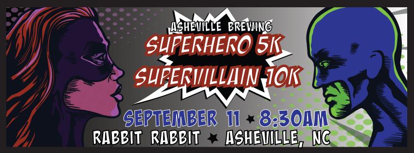 Asheville Brewing Super Hero 5K And Super Villain 10K